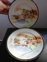 Kézi festésű keleti reggelizőtányér 2 db