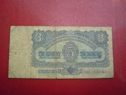 Csehszlovákia 1961 3 korun