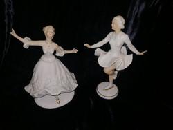 Wallendorfi porcelán balerinák /sérültek/