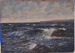 Mendlik Oszkár (1871-1963): Hullámzó tenger
