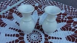 Porcelán váza 2 db együtt, kicsi, egyforma