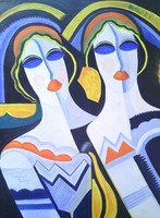 Art Deco festmény
