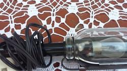 Retro, régi autós lámpa, kisméretű, működik