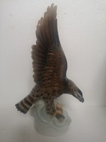 UNTERWEISSBACH porcelán vadász sas zsákmány hal 32cm