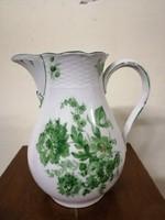 Meseszép nemet Meissen porcelán tej kiöntő. Zöld virágokkal. Kézzel festet.L-5