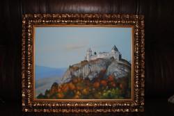 Szalkai Mária festménye a füzéri várról