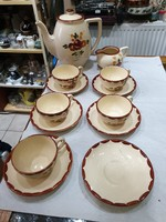 Francia porcelán teás készlet