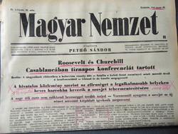 Roosevelt és Churchill Casablancában tíznapos konferenciát tartott    - Magyar Nemzet 1943