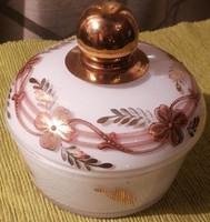 Szecessziós üveg cukortartó bonbonier