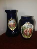 Kobaltkék német kerámia vázák, 1920