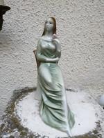 """Zsolnay színes porcelán figura. """"Óbuda  """".  L-3"""