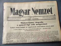 Minisztertanács tárgyalta spanyol légi erők mozgósítását    - Magyar Nemzet 1943