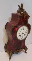 Boulle jellegű antik asztali óra