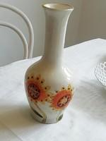 Napraforgó mintás kézzel festett kerámia váza
