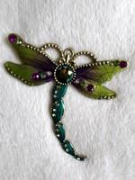 Csodás zománcos fém pillangó  9 x 9 cm