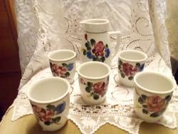 Porcelán boros készlet