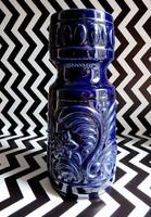 Kobaltkék retro kerámia váza 30 cm