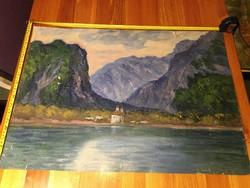 Remek tájkép festmény, karton, olaj, méret jelezve!