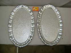 Retro ovális alumínium tálca - két darab