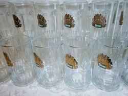 2 x 6 db üveg sörös korsó pohár készlet 3 és 5 dl-es Gösser felirattal