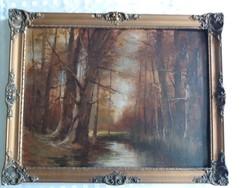 Rácz Kálmán Őszi erdő festmény