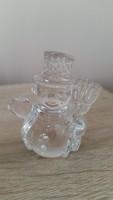 Ólomkristály kis szobor, dísz  eladó!Hóember német ólomüveg dísz