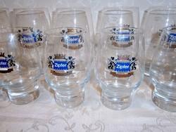 2 x 6 db üveg sörös pohár készlet 3 és 5 dl-es Zipfer felirattal