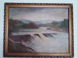 Molnár vízesés festmény