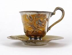 1A970 Antik szecessziós réz kávéscsésze