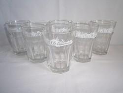 6 db limonádés, üdítős pohár készlet 3 dl-es Fütyülős vastag üvegből
