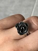 Ezüst gyűrű designer rózsa