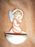 Antik kis Hummel angyalkás szenteltvíztartó