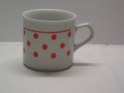 Régi Zsolnay jellegű pöttyös bögre, csésze