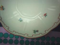 Antik pajzspecsétes Zsolnay apróvirágos porcelán alátét tányérok