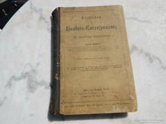 Antik német nyelvű levelezés tankönyv Handels...