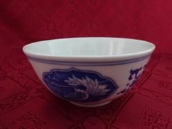Kínai porcelán rizses tál kanállal. Átmérője 11,5 cm.