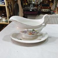 Régi osztrák porcelán szószos tál