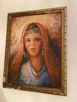 Olaj festmény - Arab nő