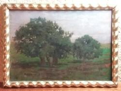 Lőschinger Hugó : Facsoport ( olaj , falemez , 35x49 cm )