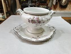 Régi osztrák porcelán szószos