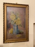 Olaj festmény - Rózsás csendélet