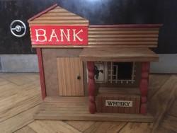 1970-80-as évekbeli faház Bank - vadnyugati játék