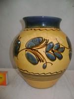 Mázas kerámia váza
