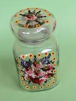 Üveg kézzel festett fűszertartó