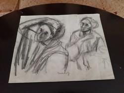 Gráber Margit rajz papírra