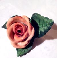 Herendi porcelán rózsa hibátlan