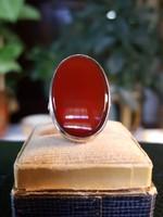 Régi Karneol Köves Ezüst Gyűrű