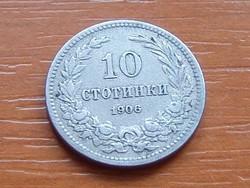 BULGÁRIA 10 SZTOTINKI 1906 Krimnitz mint #  ( KEDVEZMÉNY LENT!!)