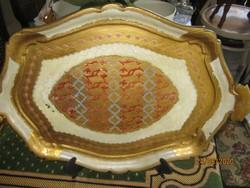 Régi olasz festett tálca