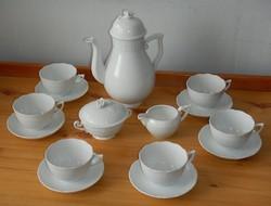 Fehér herendi teáskészlet / kávéskészlet